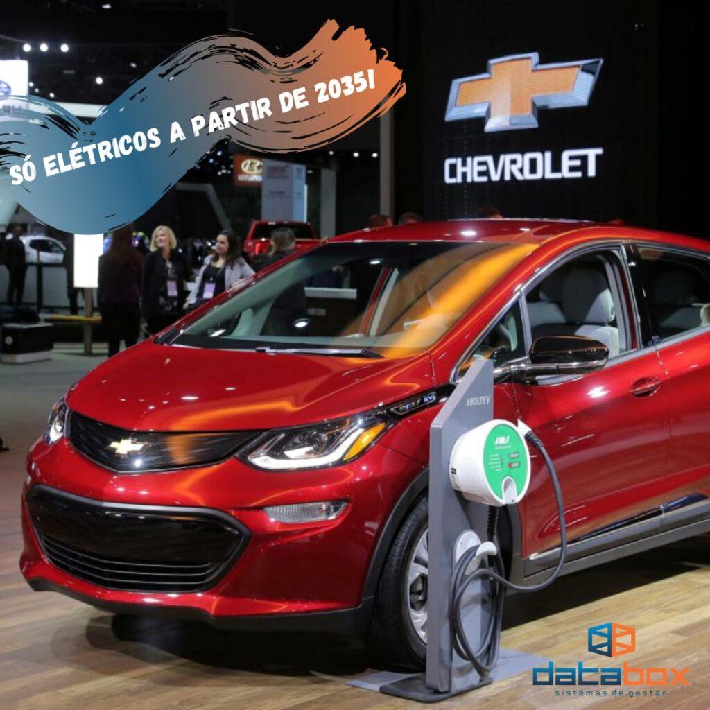 GM anuncia que só fabricará elétricos a partir de 2035